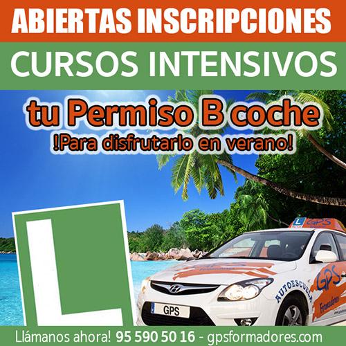 cursos intensivos permiso coche B 2017