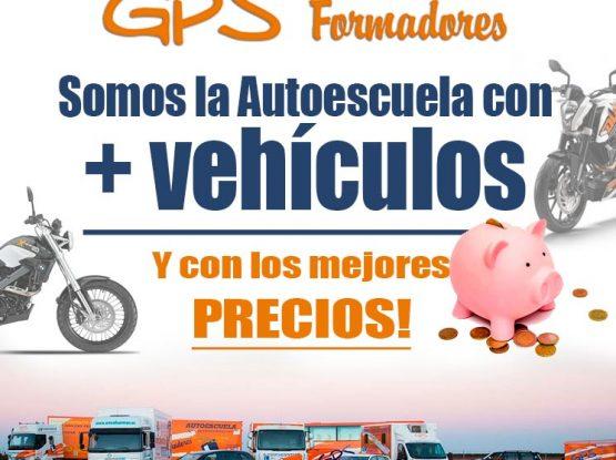 Somos la autoescuela con más vehículos y mejores precios