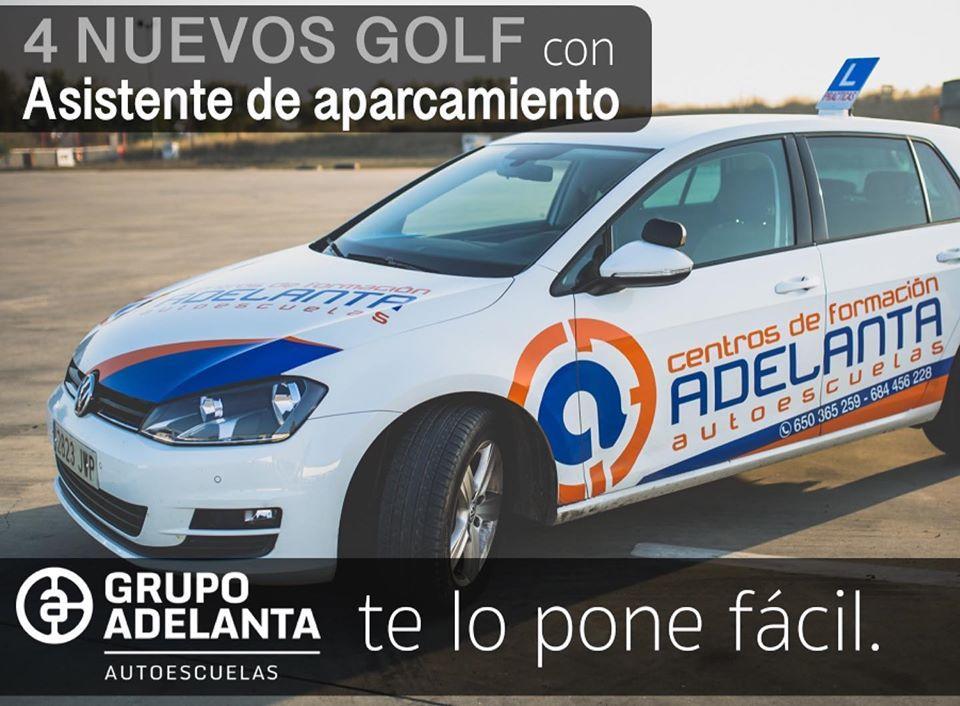 4 nuevos Golf autoescuela GPS adelanta Écija